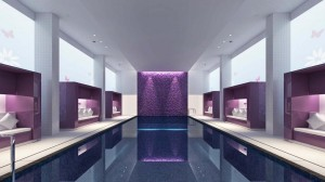 Spa swimming pool 3D Visualisierung